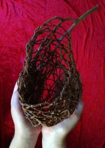 Palm Inflorescence random weave basket