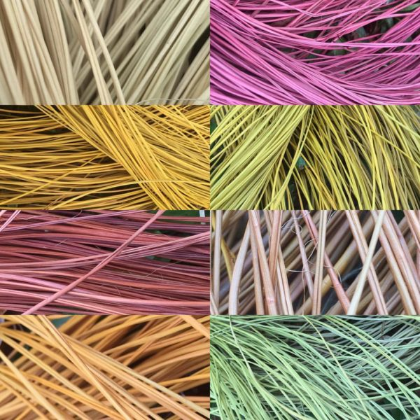 Natural dyed pandanus fibre from Arnhem Land Australia